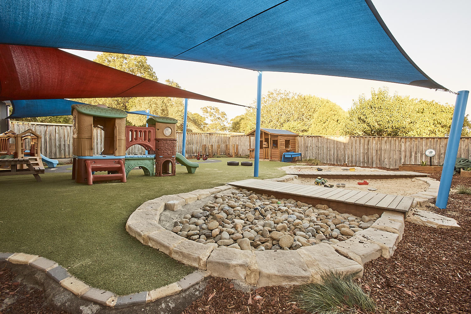 Outdoor childrens play area at papilio Dundas Valley